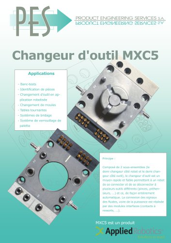 CHANGEUE D OUTIL MXC5