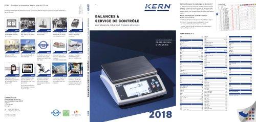 BALANCES & SERVICE DE CONTRÔLE