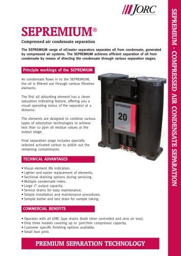 SEPREMIUM 10 Compressed air condensate separator