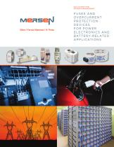 Fuses and overcurrent protection devices for power electronics and battery-related applications