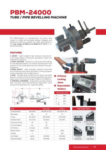 Portable Beveler and Bevelling Machine PBM24000