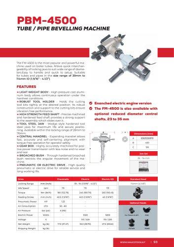 Portable Beveler and Bevelling Machine PBM4500