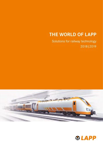 Solutions for railway technology 2018|2019