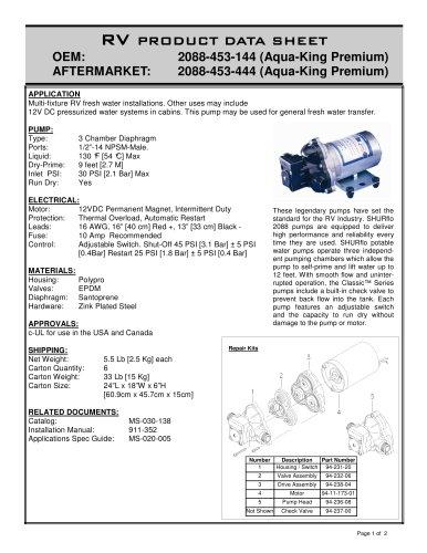 Premium Plus Pump: 3.5 GPM [12.5 LPM]