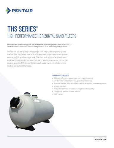 THS Series Horizontal Sand Filter