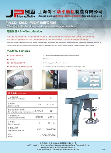 Ceiling Fan Light Balancing Machine