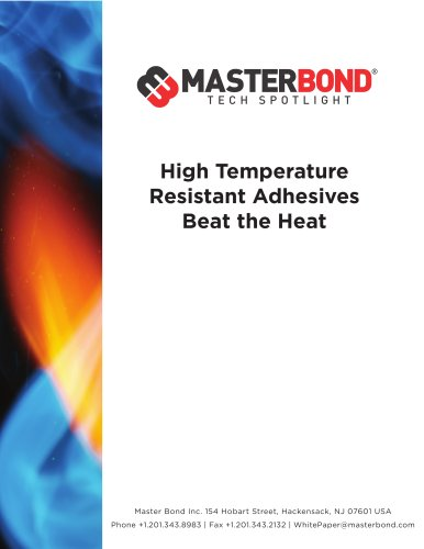 High Temperature Resistant Adhesives Beat the Heat