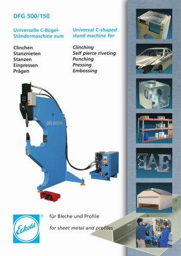 Universal C-shaped  stand machine for clinching - DFG 500/150