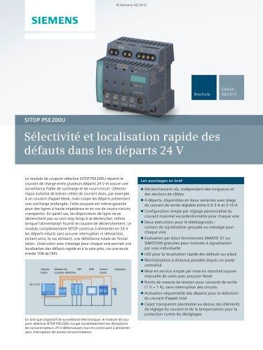 Sélectivité et localisation rapide des défauts dans les départs 24 V