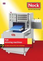 Fish skinning machines
