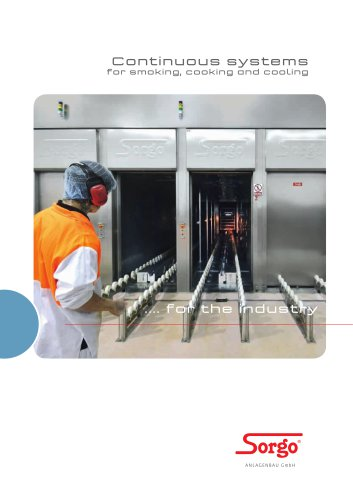 Continuous systems for smoking, cooking and cooling