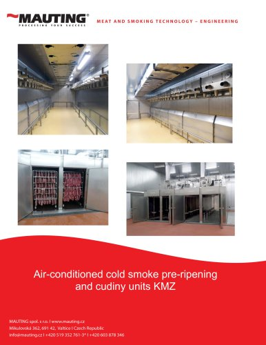 Air-conditioned cold smoke pre-ripening and cudiny units KMZ