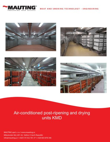Air-conditioned post-ripening and drying units KMD