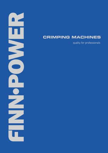 CRIMPING MACHINES quality for professionals