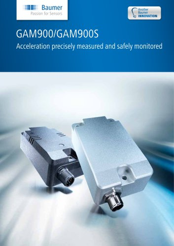 GAM900/GAM900S - Acceleration precisely measured and safely monitored