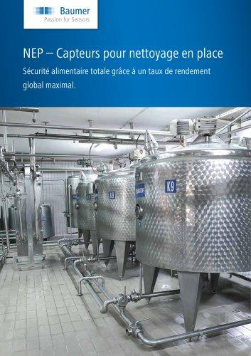 NEP – Capteurs pour nettoyage en place