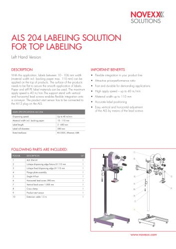 ALS 204 LABELING SOLUTION