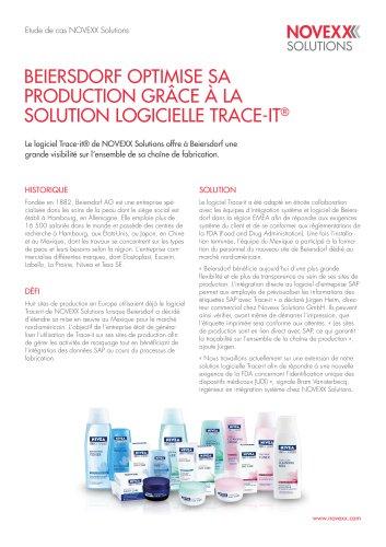 Beiersdorf optimise sa production grâce à la solution logicielle TRACE-it
