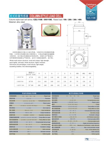 column style load cell