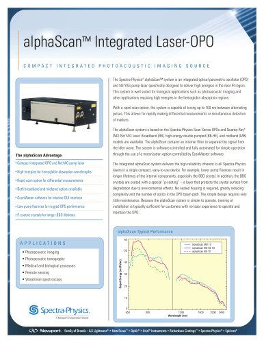 alphaScan Integrated Laser-OPO