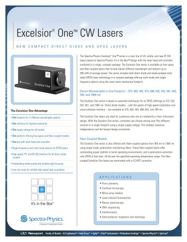Excelsior One CW Lasers