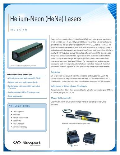 Helium-Neon (HeNe) Lasers - Red 633 nm