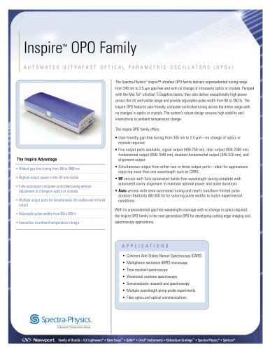 Inspire Automated Ultrafast OPOs