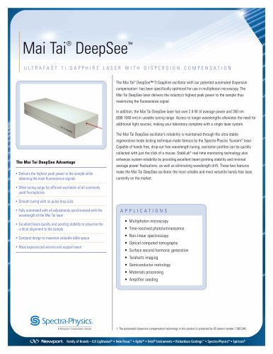 Mai Tai DeepSee One Box Ultrafast Lasers