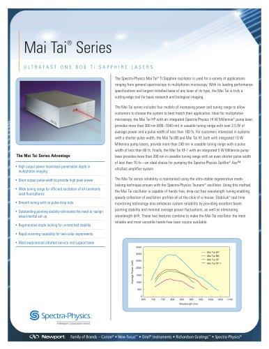 Mai Tai One Box Tunable Ultrafast Lasers