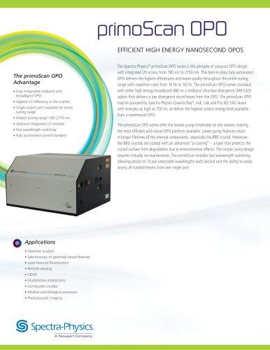 primoScan OPO EFFICIENT HIGH ENERGY NANOSECOND OPOS