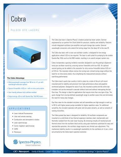 Pulsed Dye Lasers, Cobra