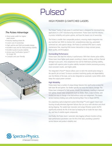 Pulseo, high power Q-switched lasers