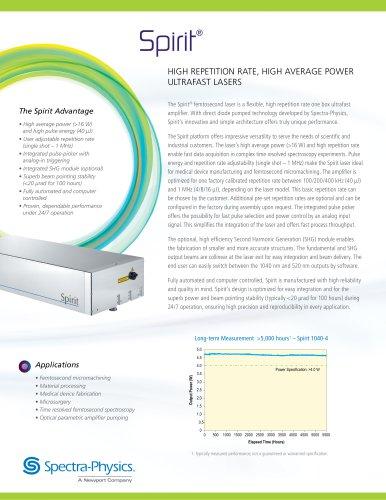 Spirit High Rep Rate Ultrafast Lasers
