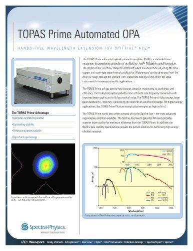 TOPAS Prime Automated Ultrafast OPAs