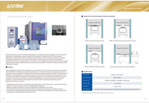 Labtone Vibration Climatic Chamber Combined Test System