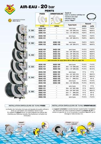Enrouleurs de tuyau sèrie 540