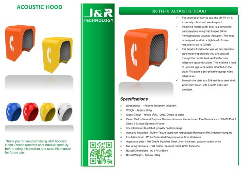 Cabine téléphonique insonorisée JR-TH-01