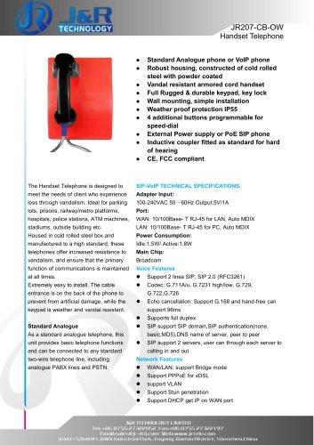 public emergency telephone JR207-CB-OW