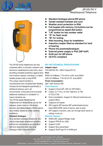 Weather Resistant VoIP Telephone