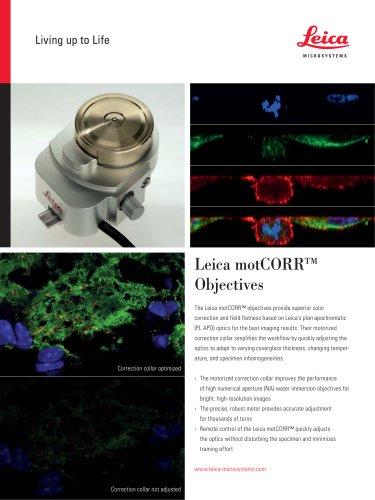 motCORR Objectives