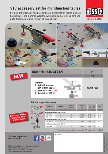 STC accessory set for multifunction tables