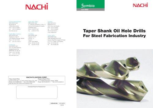 Taper Shank Oil Hole Drills