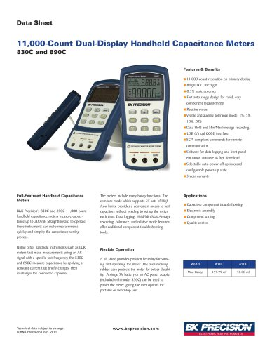 830C and 890C Dual Display Handheld Capacitance Meters