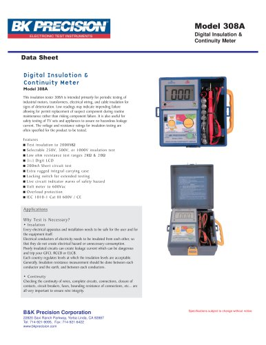 Digital Insulation & Continuity Meter