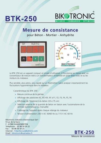 Mesure de plasticité BTK 250