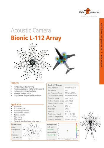 microphone array Bionic L-112 for acoustic camera