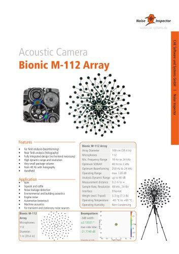 microphone array Bionic M-112 for acoustic camera
