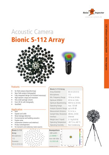 microphone array Bionic S-112 for acoustic camera