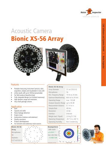 microphone array Bionic XS-56 for acoustic camera