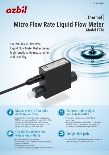 Micro Flow Rate Liquid Flow Meter Model F7M